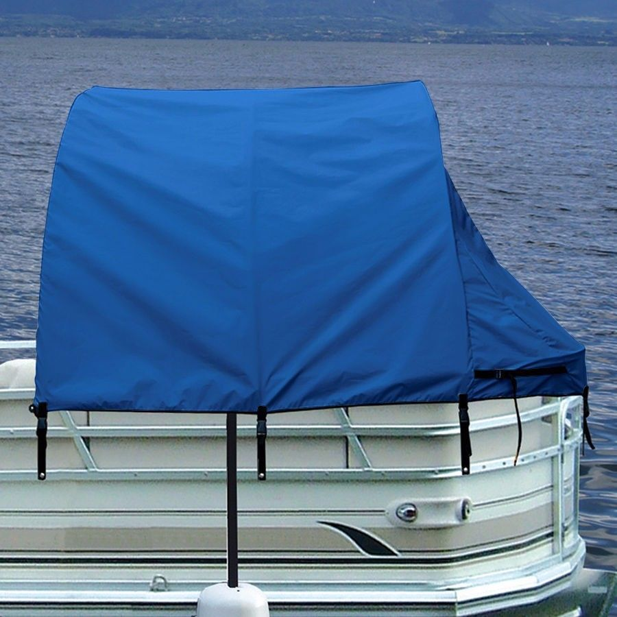 Boat Privacy Enclosure Tent Pontoon Shade Cover by Taylor Made Blue 56 L x 74 H & Boat Privacy Enclosure Tent Pontoon Shade Cover by Taylor Made ...