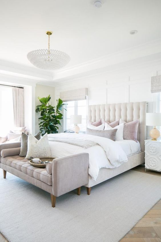 A House With A View - beautiful feminine bedroom design #femininebedroom #bedroo...
