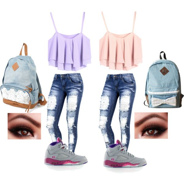 Twin day school outfit by shaniabowen on Polyvore featuring CO and Retru00c3u00b2 | quotes | Pinterest ...