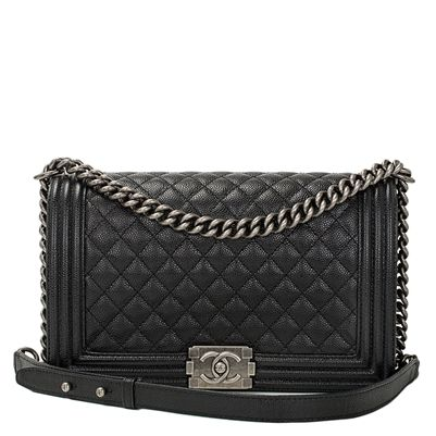 234c8c9e0af0a6 Chanel Black Caviar New Medium Boy Bag with Ruthenium Hardware | Madison  Avenue Couture