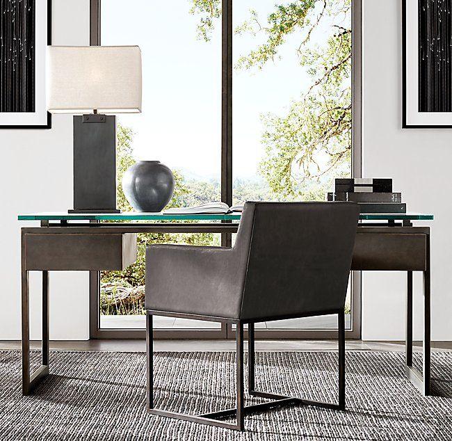 Latour 68 Desk Rh Modern Interior Guest Room Office
