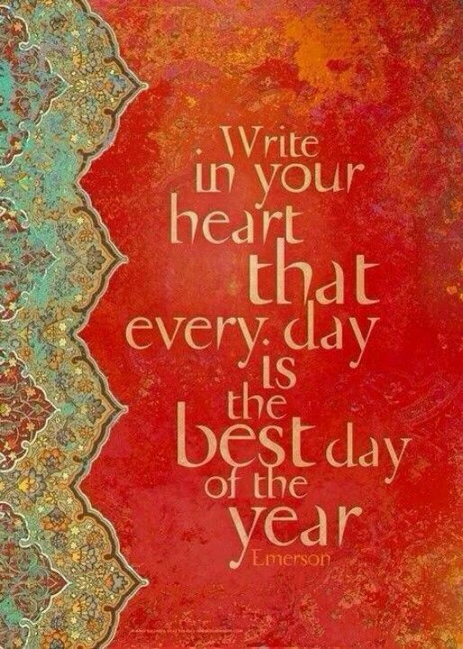Write in your heart