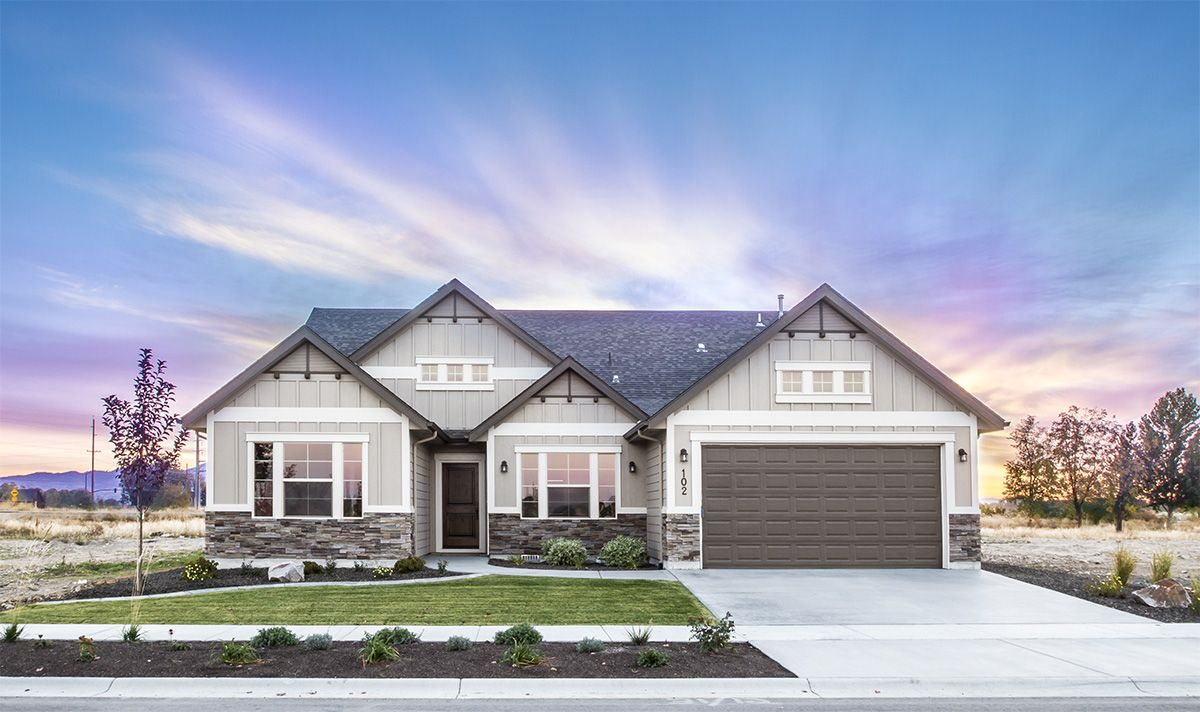 The Victoria By Eaglewood Homes Boise Meridian Twin Falls Idaho Home Builder Www Eaglewood Com Exterior House Colors Home Builders House Exterior