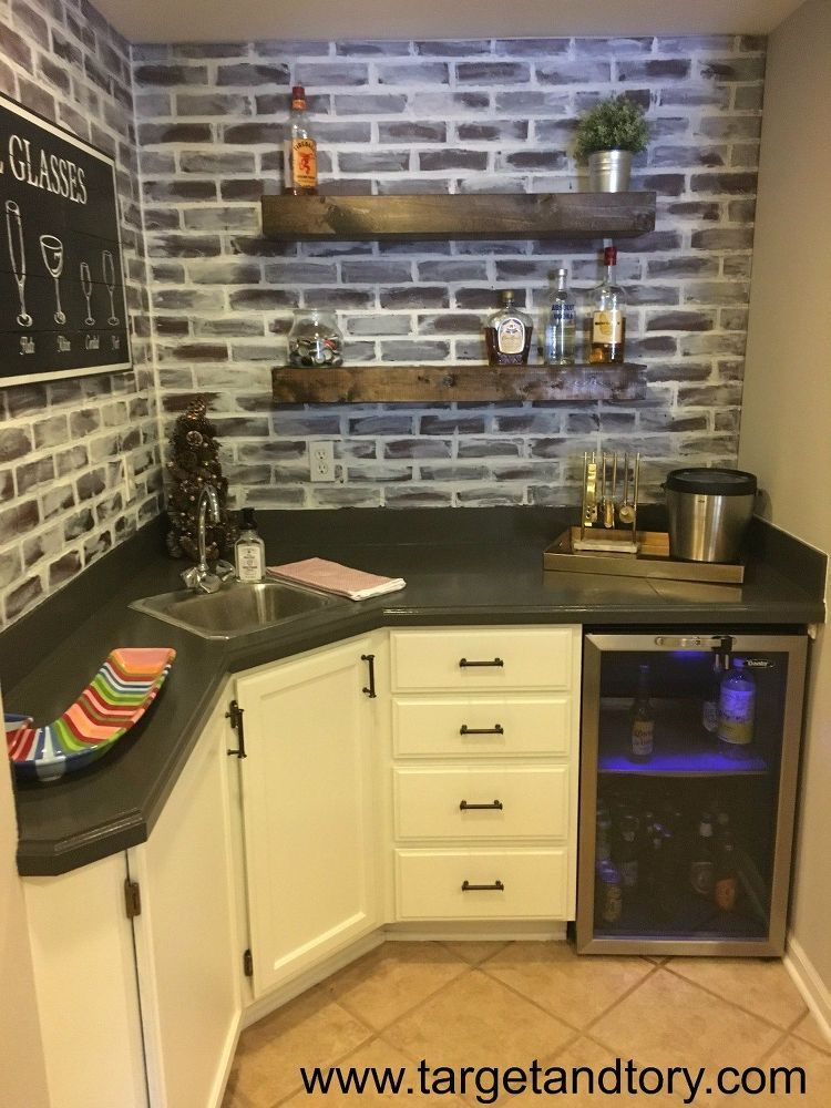 Basement Bar - From Outdated to Updated | Basements, Bar and Men cave