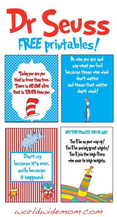 photo regarding Free Printable Dr Seuss Quotes identify Pin upon ✍✄Printables✄✍
