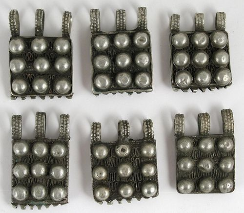 Old Coin Silver Amulets   Gurage People of Ethiopia