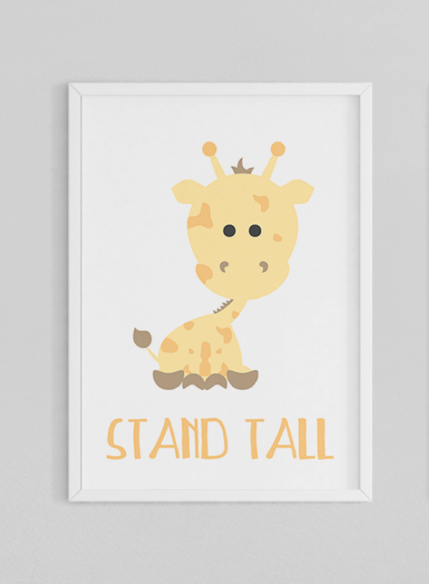 Animal Prints | Zoo Animals | Nursery Art | Brave Tall Strong | Set ...