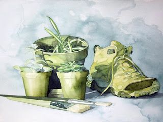 Via Blog Wildgrowth Watercolor Still Life Monochromatic