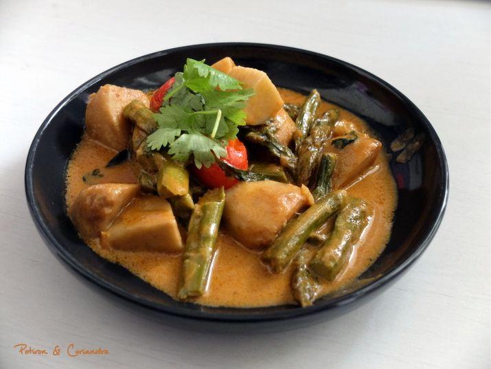Curry de taro et asperges