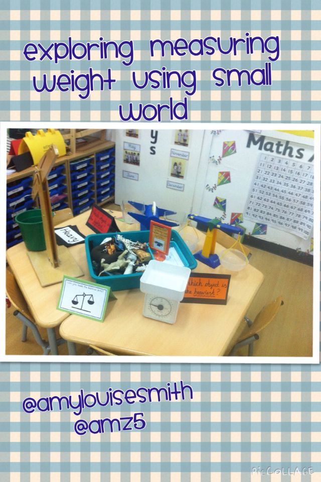 Investigating weight with small world. Inspired by @rockmyclassroom ...