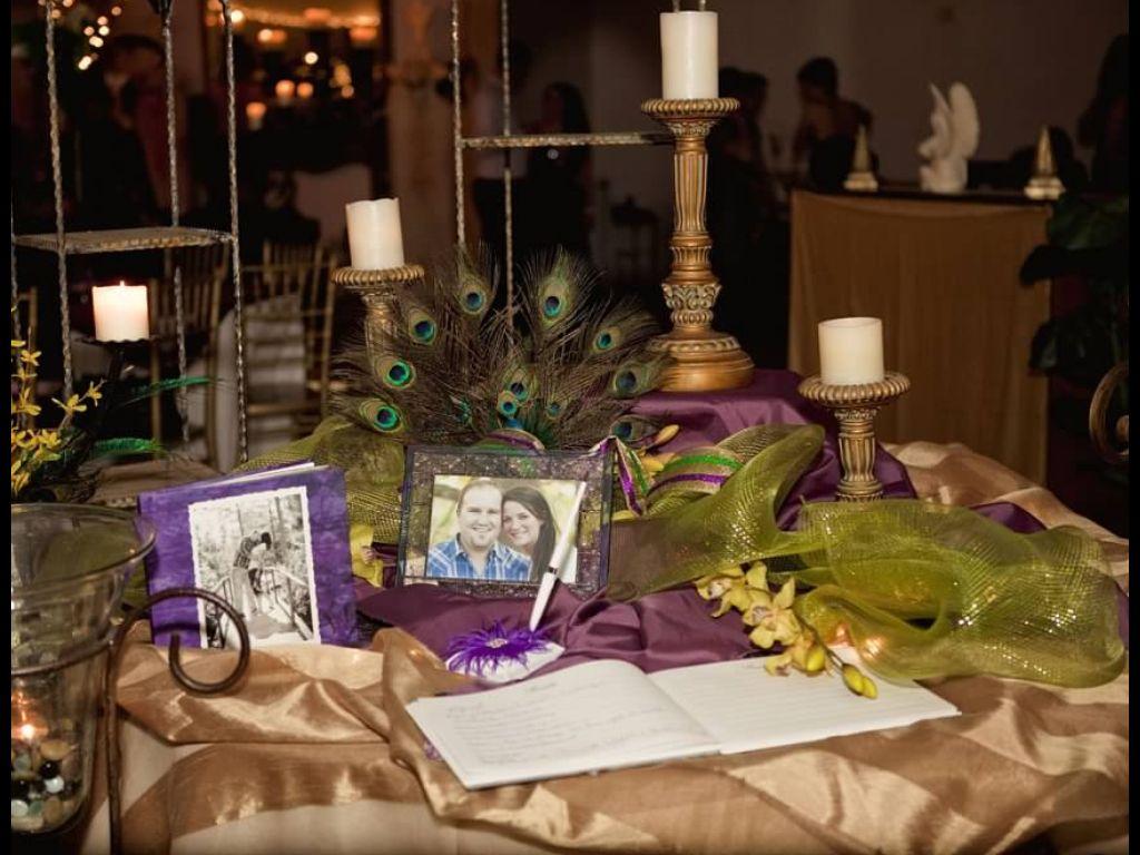 Mardi Gras Themed Wedding Entrance Table Jhicks Photo Mardi Gras