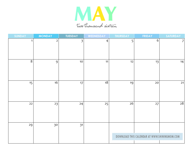 Free Printable Your Lovely 2016 Calendars Mom Calendar Calendar Printables Calendar