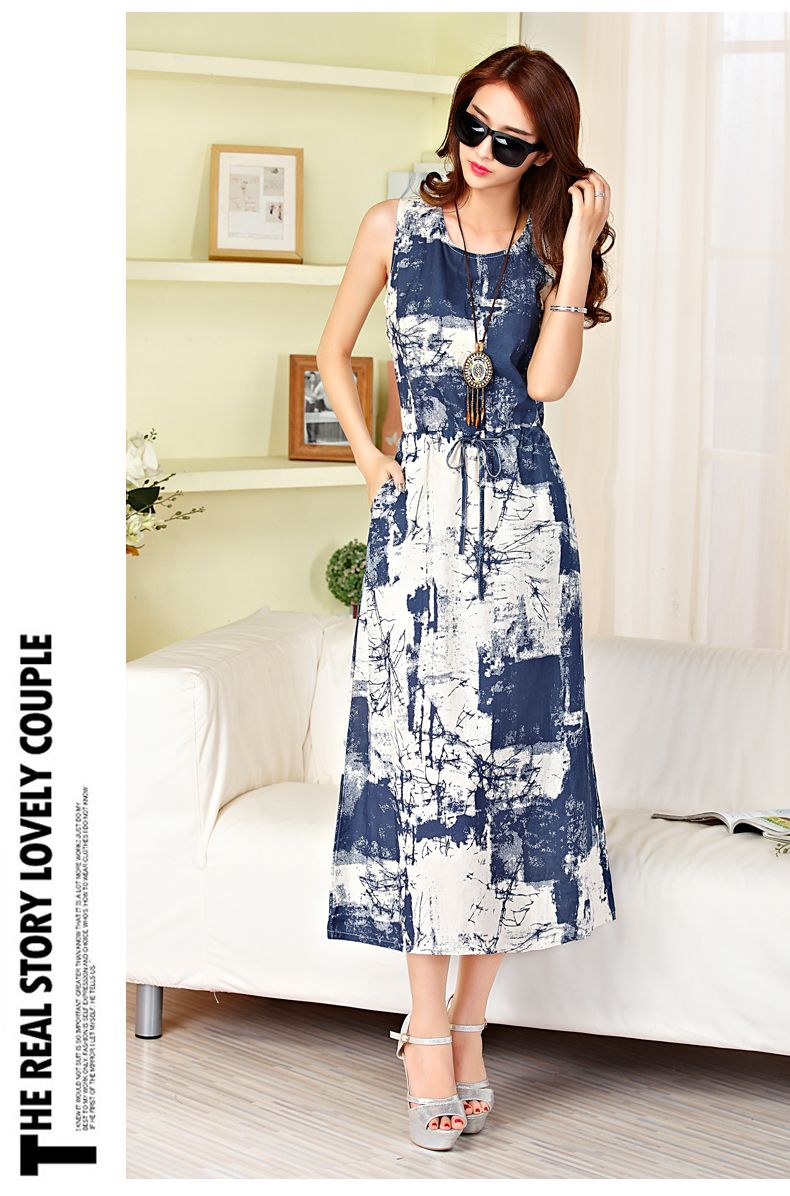 a3ad61fe2db Sleeveless Long Summer Dress