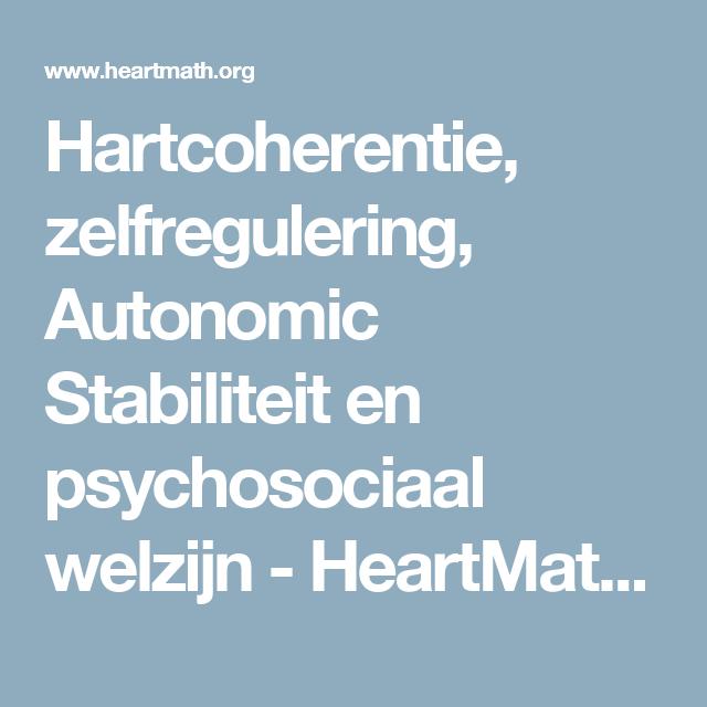 Cardiac Coherence Self Regulation Autonomic Stability And