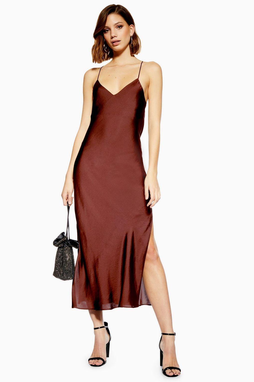 plain satin slip dress | slip kleider, topshop kleider
