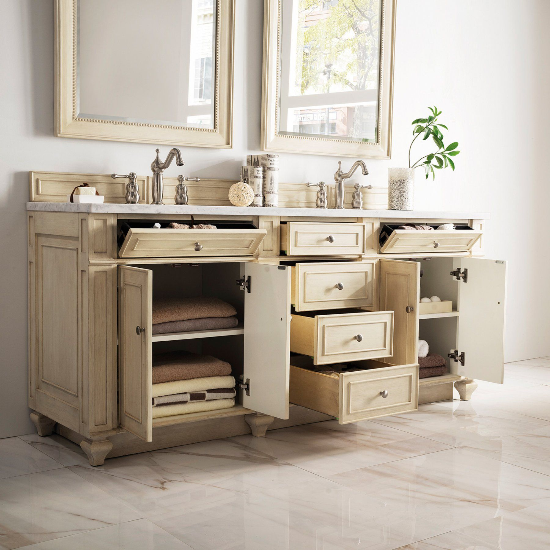 James Martin Furniture Bristol 72 in. Double Vanity - 157 ...