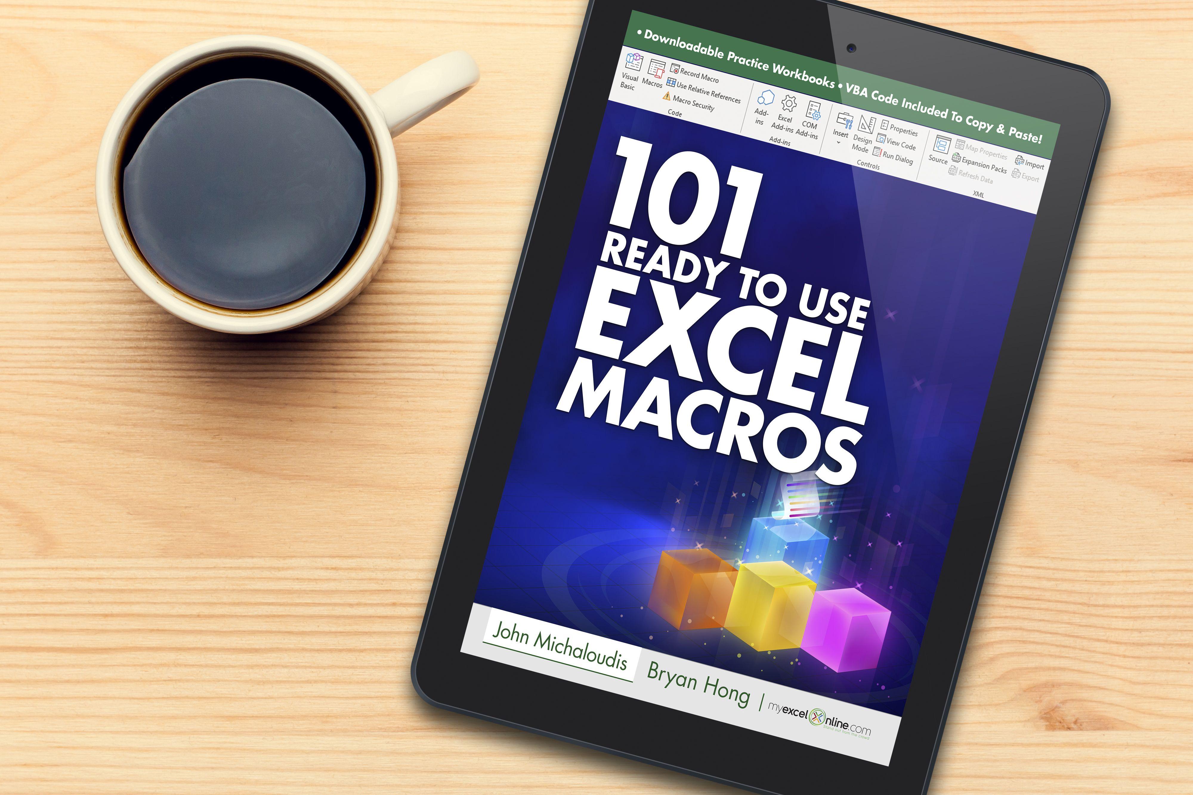 101 Ready To Use Excel Macros EBook (10 OFF) Excel