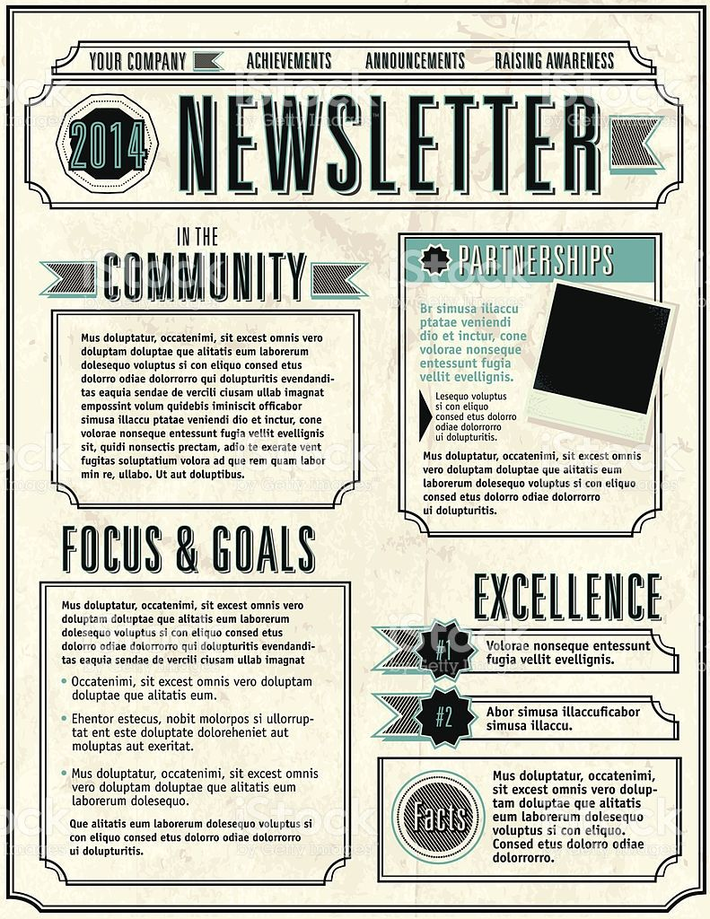 company newsletter design