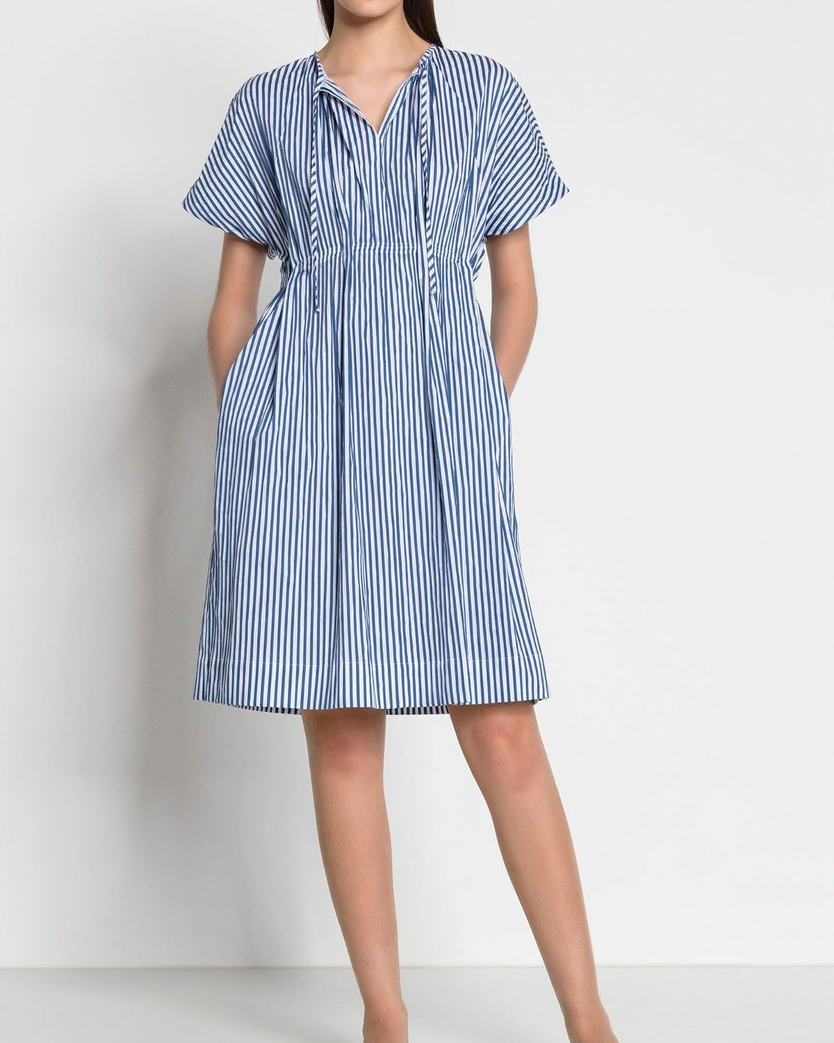 Luisa Cerano Blue And White Striped Summer Dress Summer Dresses Comfortable Outfits Striped Dress Summer [ 1500 x 1200 Pixel ]