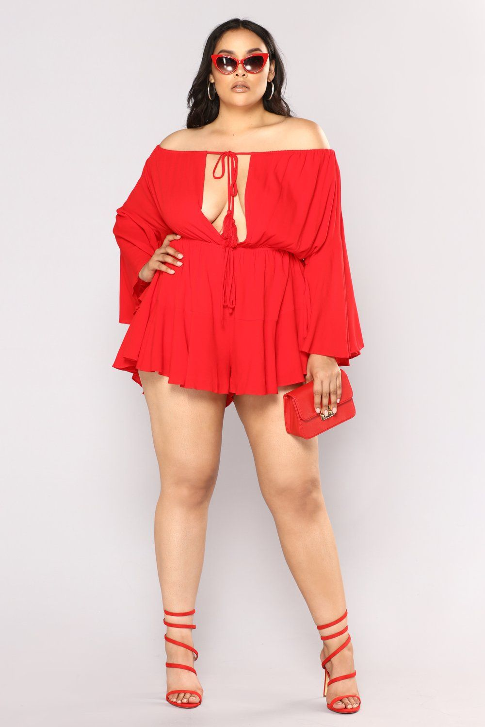 2d60433d25 plus-size. plus-size Fashion Nova Plus Size, Full Figure Fashion, Off  Shoulder Romper,