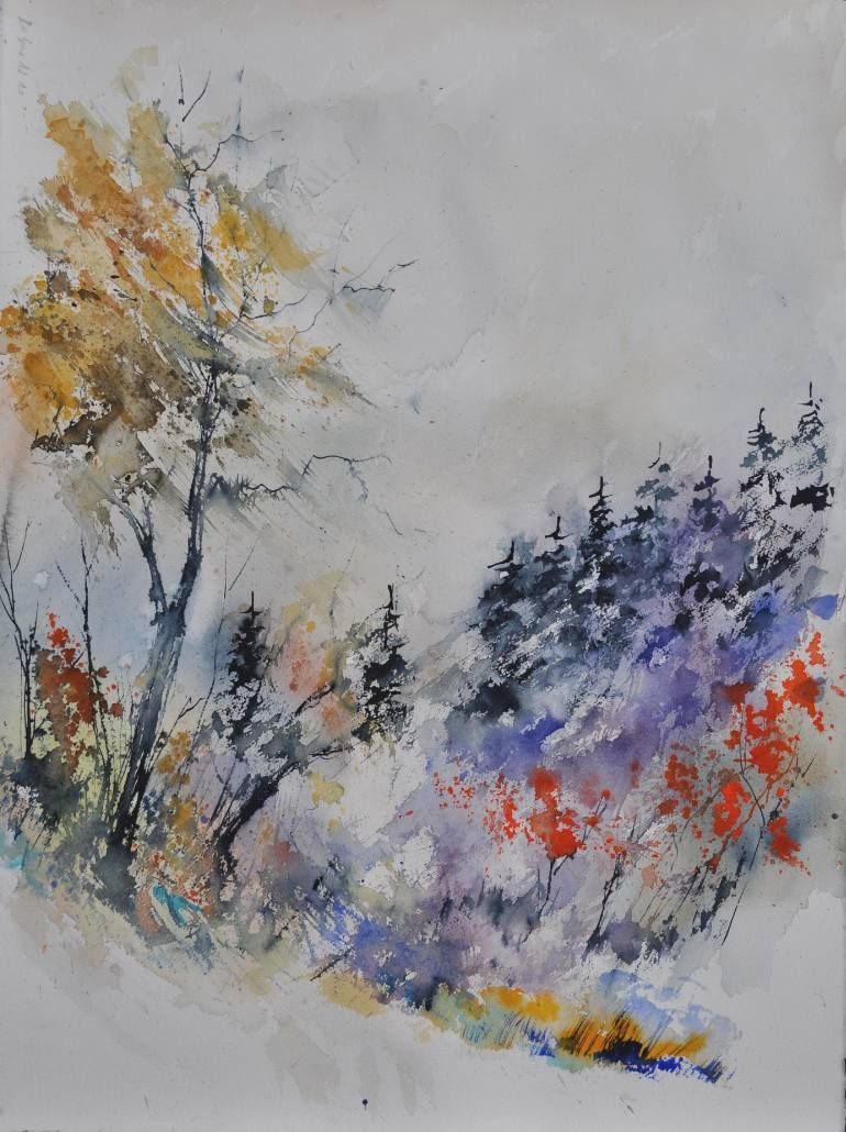 Saatchi Art Artist Pol Ledent Painting Watercolor 683121 Art