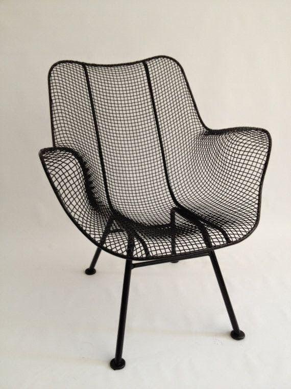 Wire Mesh Chair Oo Designer Norte Americano Russell Woodward, 1950u0027s  #paranossacoleção