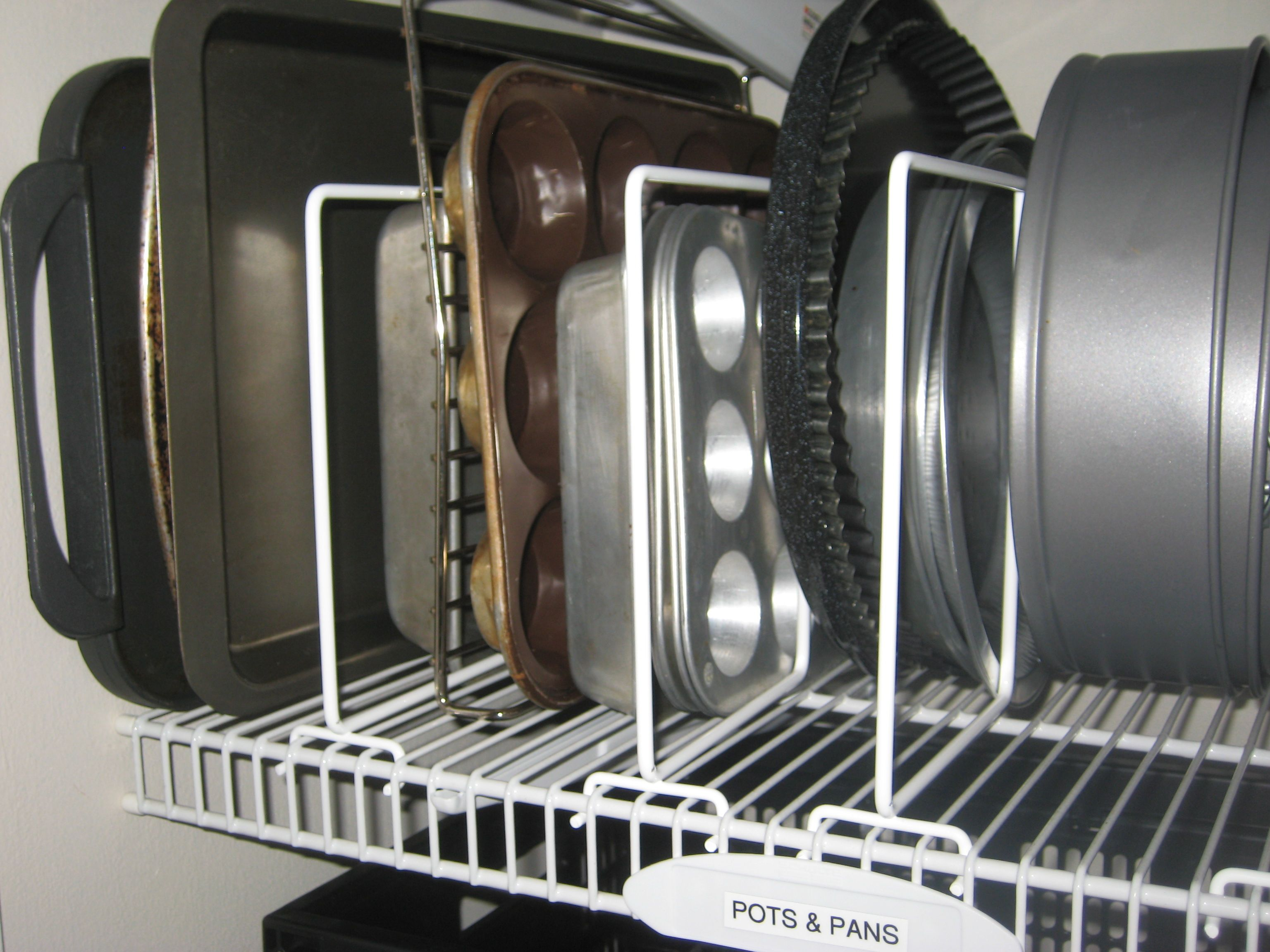 Kitchen Organization Pantry Organization Vertical Pan Divider