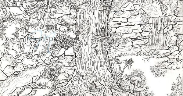 FAIRY GARDEN COLORING PAGE For the little ones and grownups