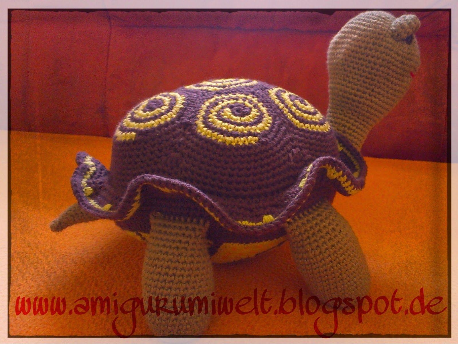 amigurumi häkeln crochet schildkröte übersetzung turtle groß ...