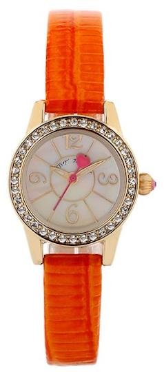 5d87cf595b0 Betsey Johnson Women s Orange Textured Leather Strap Watch