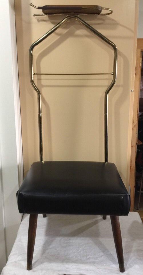 Merveilleux Vtg Nova Valet Tray Rack Frame Hanger Butler Mens Dressing Retro Chair  Stool | EBay