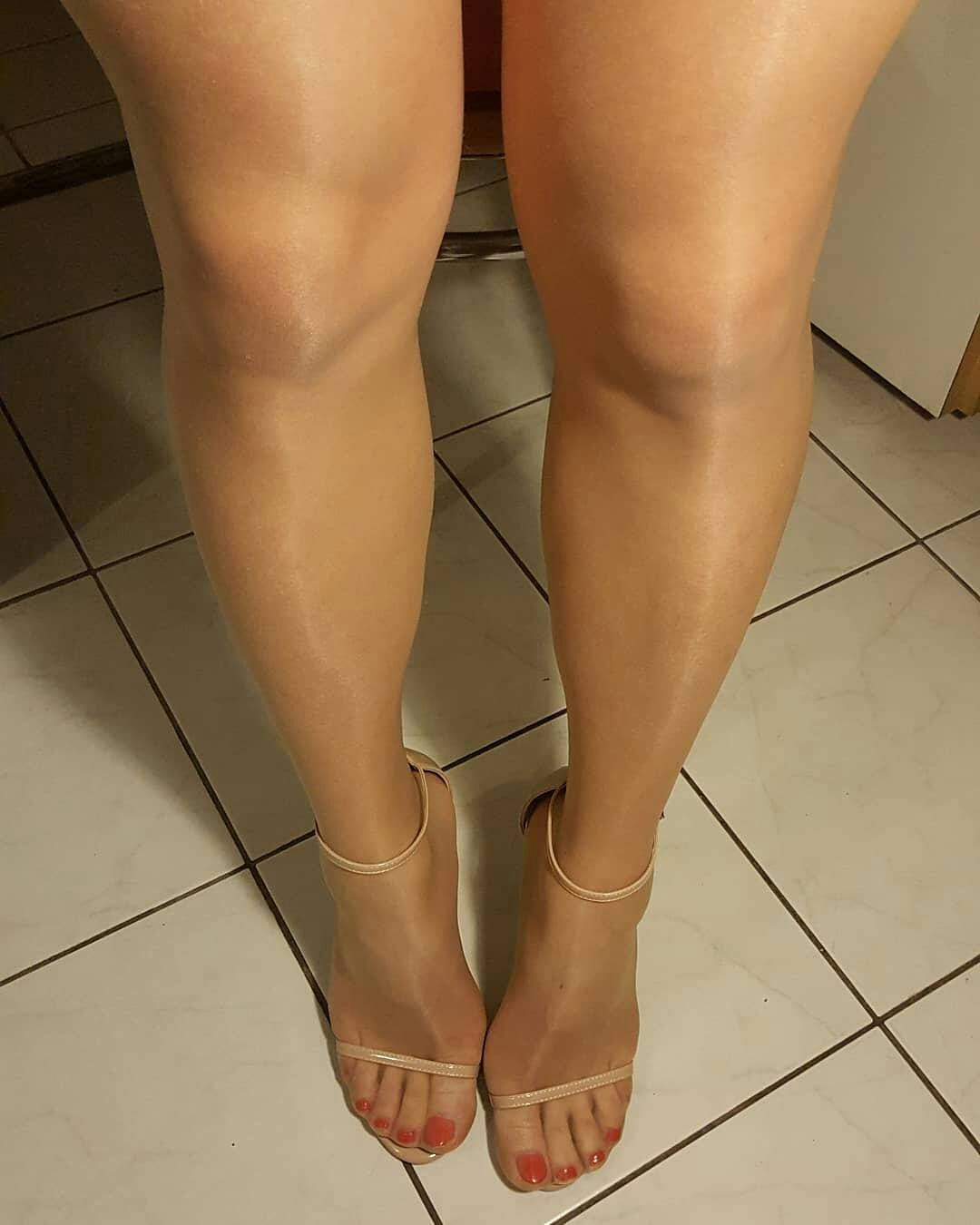 nylons and sandals