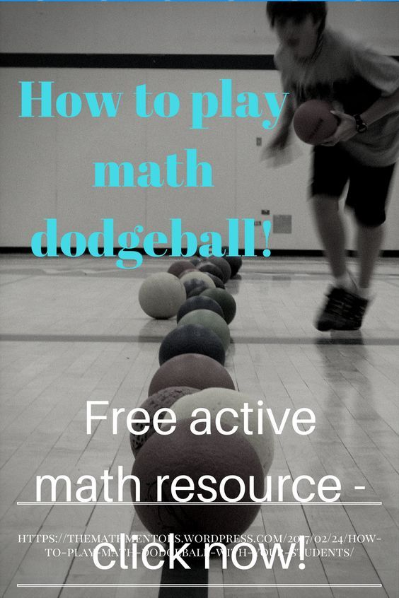 How to play math dodgeball with your students!!   Algebra activities ...
