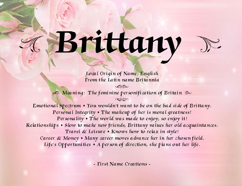The Name Brittany Means