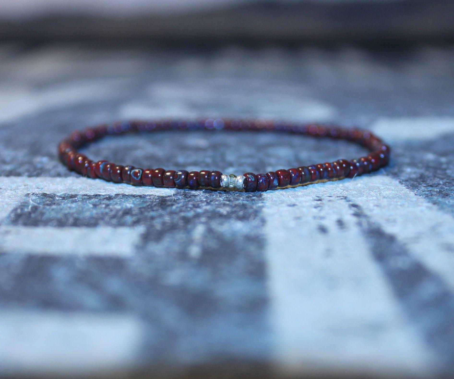 Peridot Beaded Bracelet Mens Peridot Jewelry Mens Bead