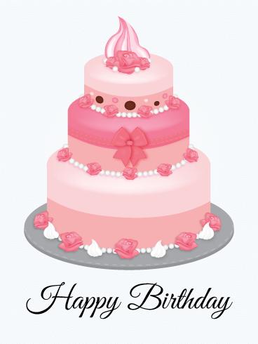 Pink Birthday Cake ECard