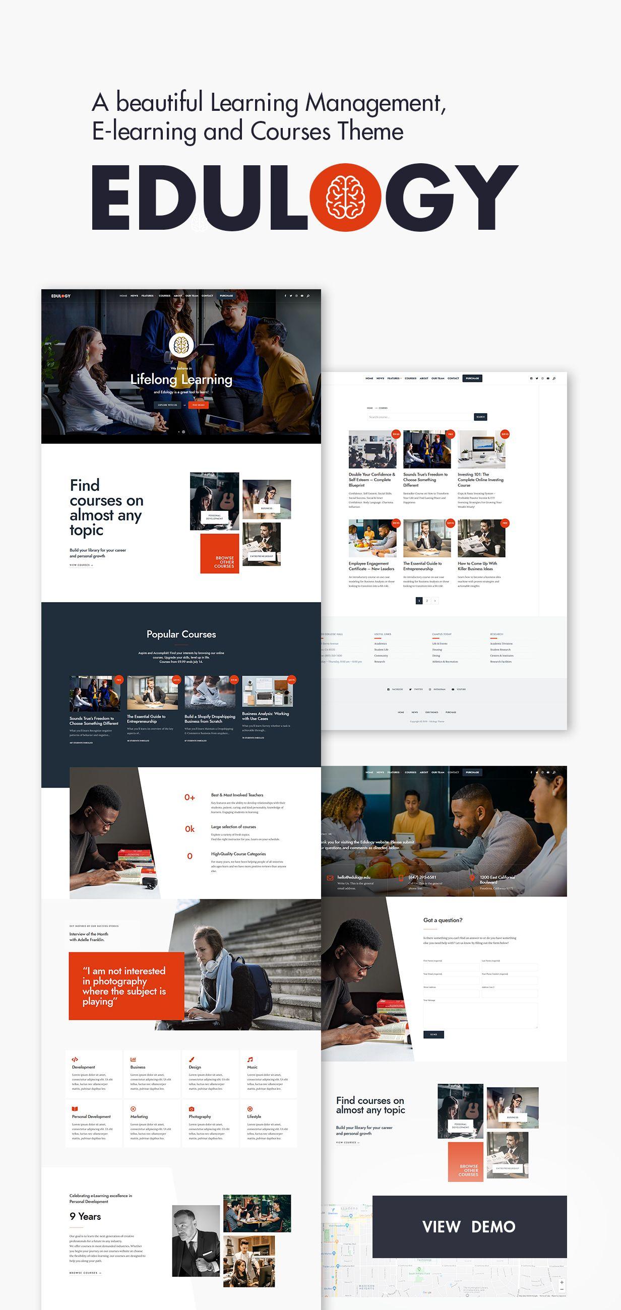 Edulogy E Learning And Courses Theme Ad Learning Paid Edulogy Theme Courses In 2020 Elearning Design Learning Website Design Elearning Design Inspiration