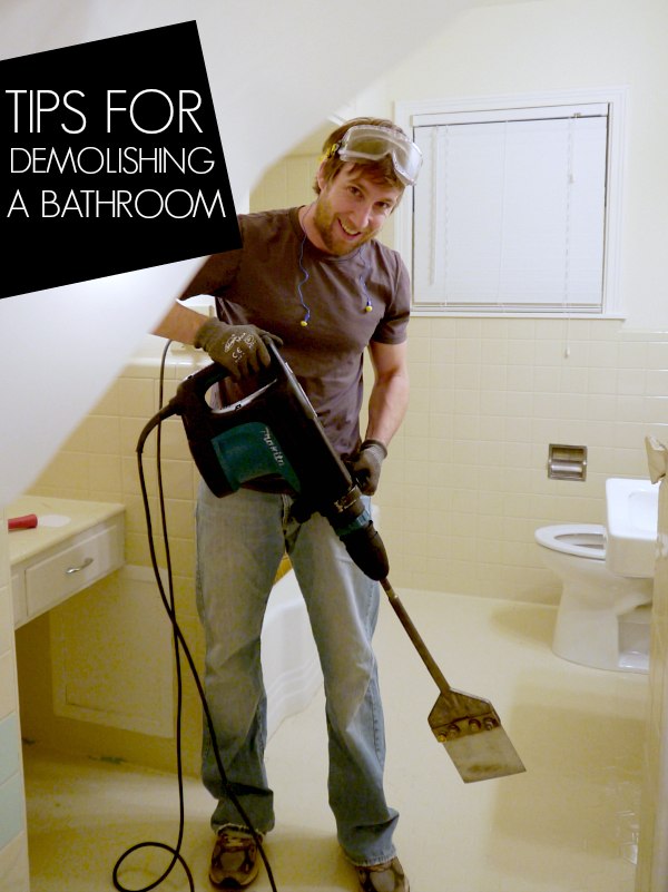 Do It Yourself Home Design: Toilets, Tile And Demolition Hammers, Oh My {Part 3