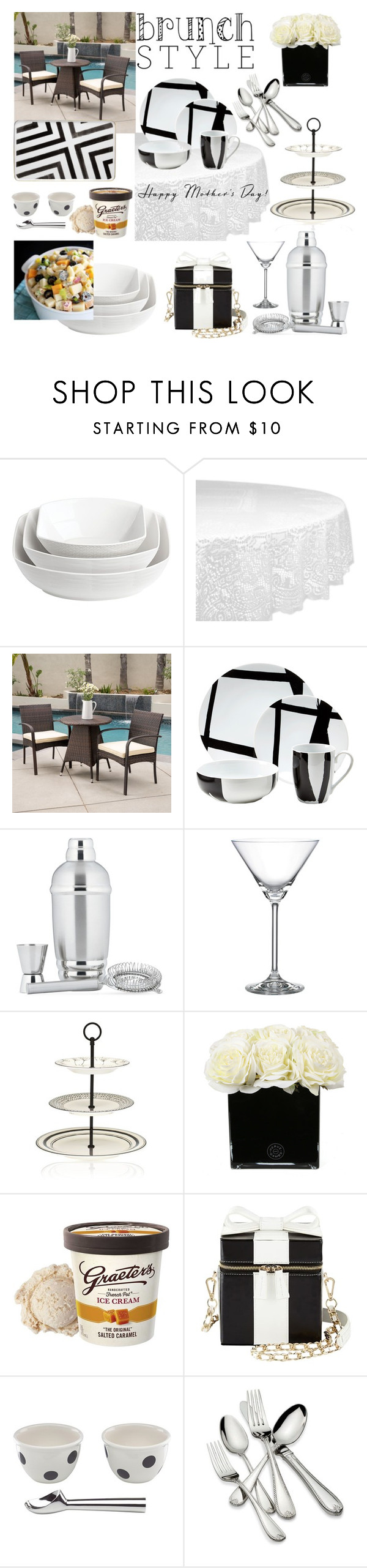 """""""Mother's Day Brunch"""" by jamie1975 ❤ liked on Polyvore featuring interior, interiors, interior design, home, home decor, interior decorating, Lenox, Design Imports, Christopher Knight Home and Hervé Gambs"""