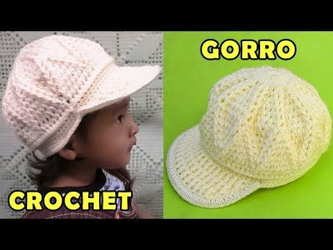 507ae2d59a83e Como tejer un Sombrero con flor para bebé de 5 meses tejido a crochet paso  a paso en puntos abanicos. Muchas gracias por ver