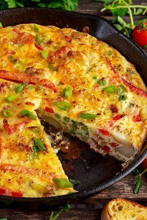 Einfache Gemüse-Frittata mit Linsen