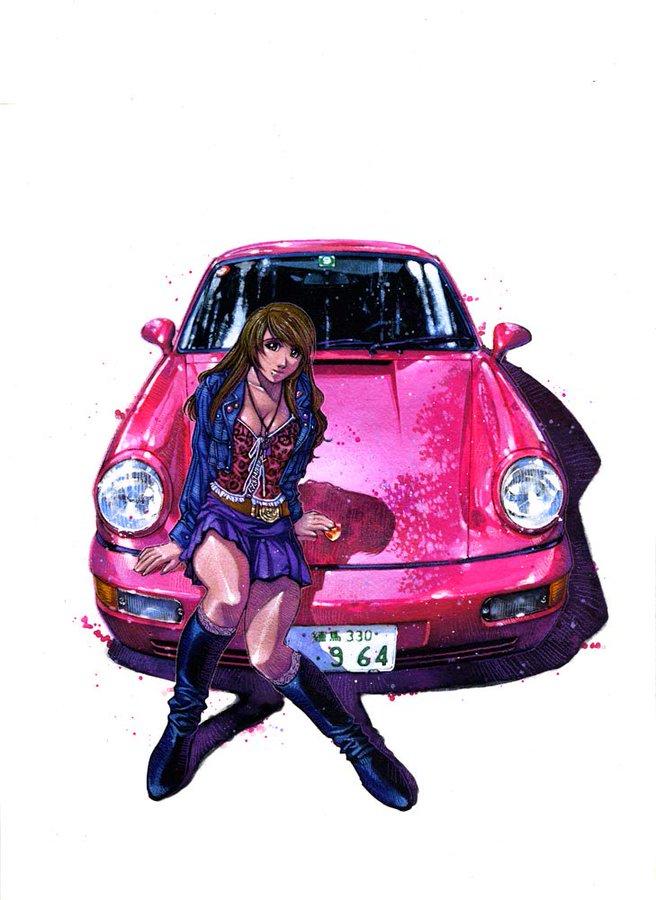 Artists Kia Asamiya おしゃれまとめの人気アイデア Pinterest Kingcobra 車の絵 素敵な車 車 イラスト