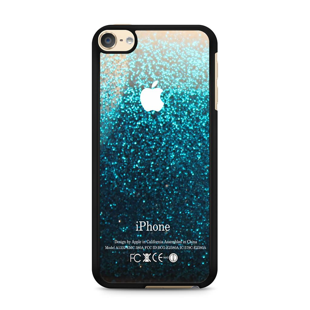 Blue Water Faux Glitter Ipod Touch 6 Case Ipod Touch
