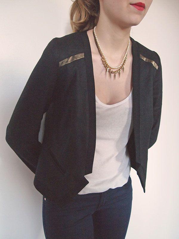 patron couture veste cuir