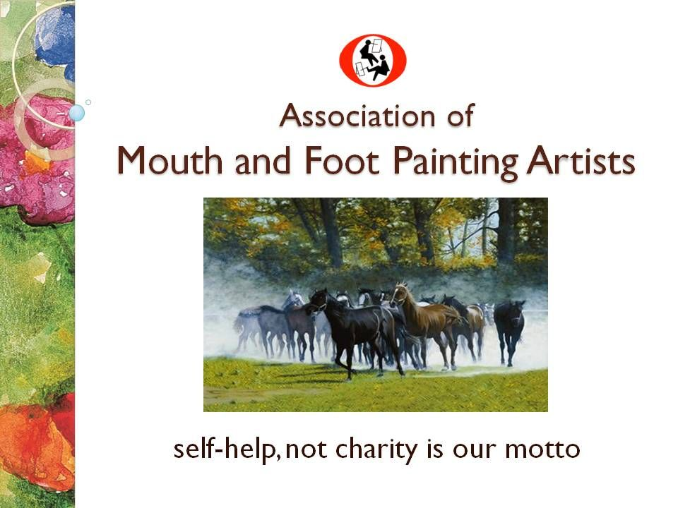Association of mouth and foot painting artists mouth and