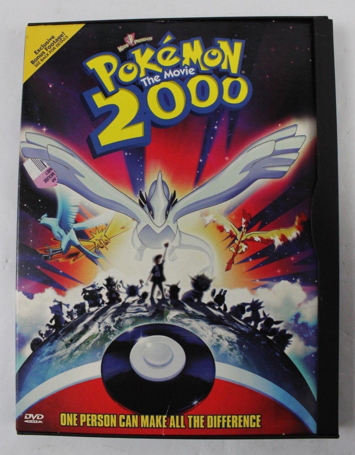 Pokemon The Movie 2000 Dvd Video Nice Pokemon Movies Pokemon