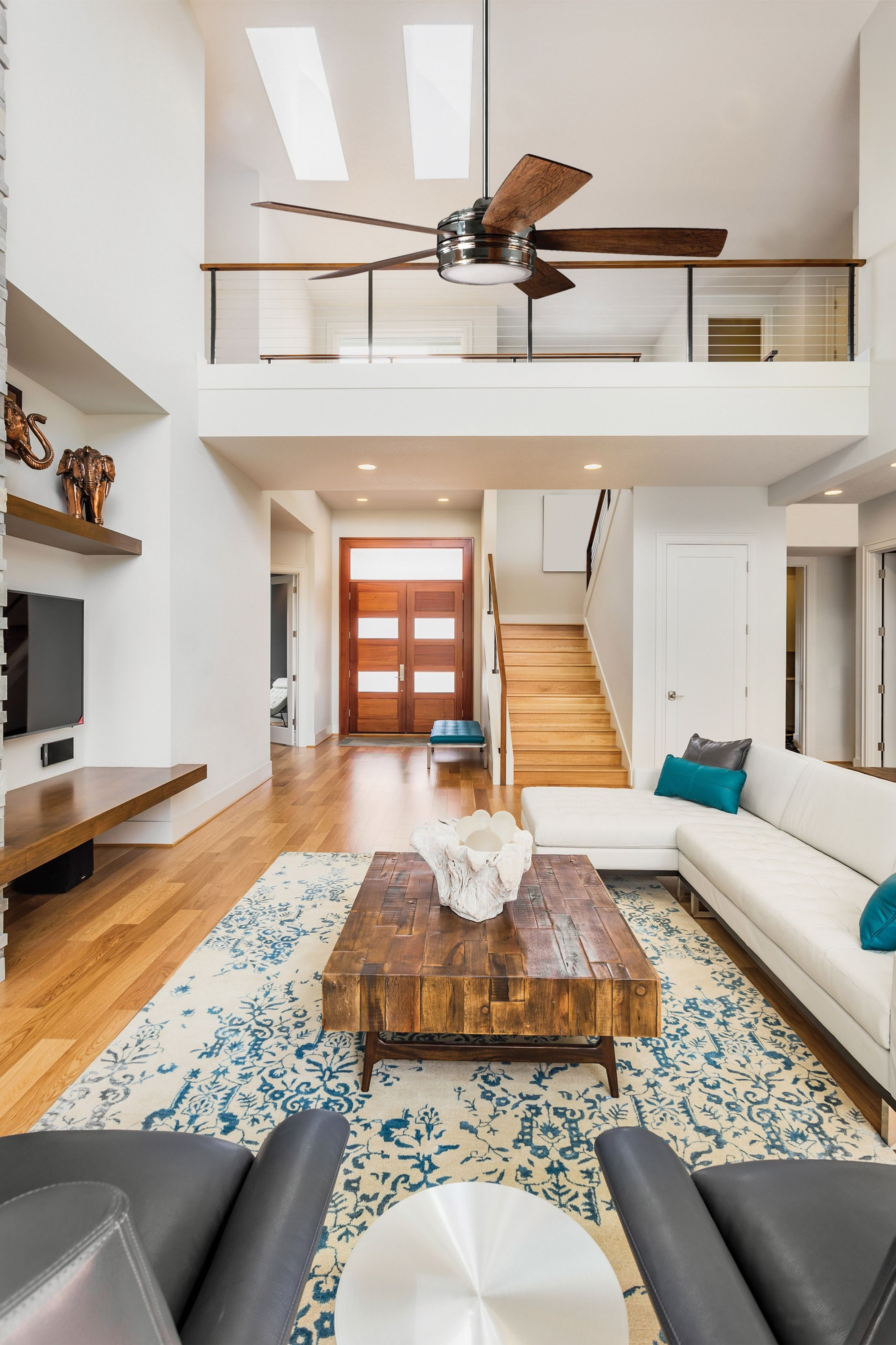 Ceiling Fan With Led Light High Ceiling Living Room Tiny House