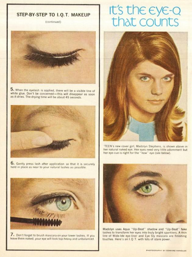 760dec0db3f How to apply fake lashes from the 60s...actual instructions. | 3 I ...