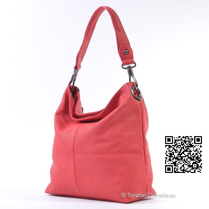 ec841bd9affe1 Nowy model  torebki w pięknym odcieniu koloru czerwonego (koral). Średnia  wielkość