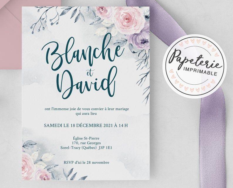 Invitation Mariage En Francais Douceur Feerique In 2020 Wedding Day Mariage Wedding